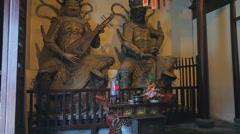 Buddhist deity statues in Jade Buddha Temple Stock Footage