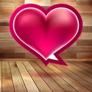 Stock Illustration of Valentines Day background with heart. EPS 10