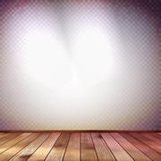 Stock Illustration of Wall with a spot illumination. EPS 10