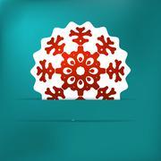 Stock Illustration of Christmas snowflake applique. + EPS8