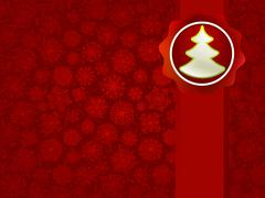 Stock Illustration of Christmas applique with tree background. + EPS8