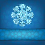 Stock Illustration of Christmas snowflake applique background. + EPS8