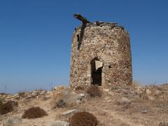 Greece windmill Stock Photos