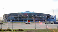 MINSK, BELARUS Timelapse view of Minsk Chizhovka Arena Complex. The second arena Stock Footage