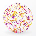 Large colored circle of the small polka dots Stock Illustration