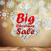 Big Sale interior decorated snowflakes. EPS 10 - stock illustration