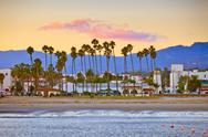 Santa Barbara from the pier Stock Photos