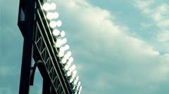 Timelapse Stadium Lights and Clouds - stock footage