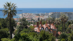 French riviera, cannes, cityscape Stock Footage