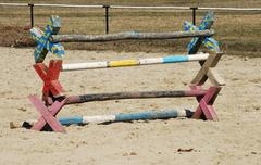 Training horse hurdles Stock Photos
