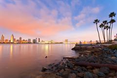 San Diego at night Stock Photos