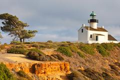 Point Loma Lighthouse in Cabrillo National Park, San Diego Stock Photos