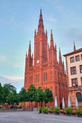 Stock Photo of Markt Kirche in Wiesbaden, Germany