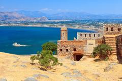 Palamidi castle in Nafplion, Greece - stock photo