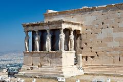 Erechtheum Temple in Acropolis, Athens - stock photo