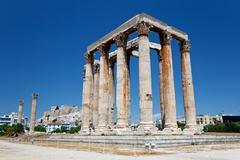 Zeuksen temppeliin, Ateena, Kreikka Kuvituskuvat