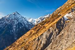 Alpin landscape - stock photo
