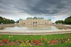 Belvedere palace, Vienna - stock photo