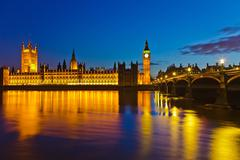 Big Ben and Houses of Parliament in London Stock Photos