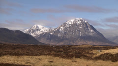 BUACHAILLE ETIVE MOR, PASS OF GLEN COE, SCOTLAND #2 Stock Footage