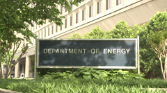 Department of Energy Sign Stock Footage