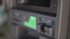 Card light flashing on ATM machine Stock Footage