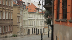 Stock Video Footage of Street in the old town in Warsaw (unesco heritage site in Poland).