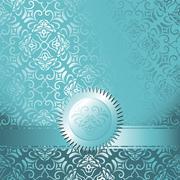 Delicate invitation card - stock illustration