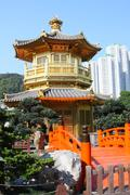 The Pavilion of Absolute Perfection in the Nan Lian Garden - stock photo