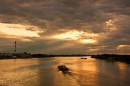 Stock Photo of Sunset at Danube river