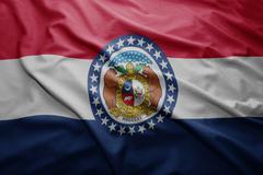 flag of missouri state - stock illustration