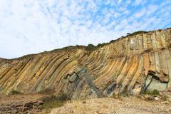 Rocks landscape in Hong Kong Geo Park - stock photo
