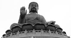 The Big Buddha in Hong Kong Stock Photos