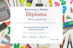 Preschool diploma Stock Illustration