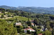 Stock Photo of Country of Le Castellet in France