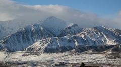 Mountains Alaska Snow - stock footage