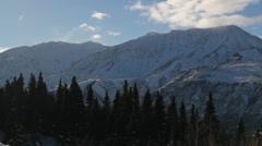 Mountains Alaska Snow Clouds - stock footage