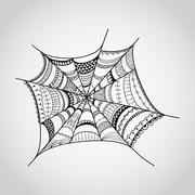 vector spider-web - stock illustration