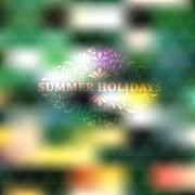 vector summer background - stock illustration
