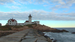 Eastern Point Lighthouse Loop Stock Footage