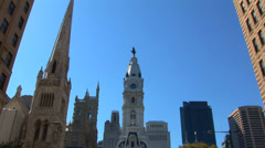 Philadelphia City Hall Skyline Loop Stock Footage