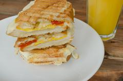 panini sandwiches italien - stock photo