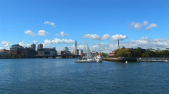 Boston Inner Harbor Loop Stock Footage