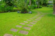 Stock Photo of Garden stone path