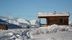 Winter Flatland Mountains Alaska - stock footage