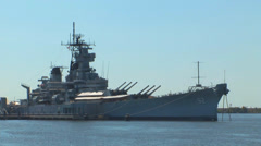 The USS New Jersey Loop Stock Footage