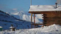 Winter Flatland Mountains Alaska Stock Footage