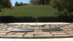 The John F. Kennedy Eternal Flame Loop Stock Footage