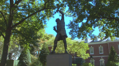 The Signer Statue Loop Stock Footage