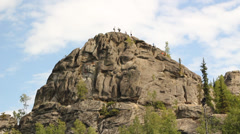 Angel Rocks Alaska Greenery Stock Footage